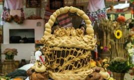 Uma cesta do pão Fotos de Stock