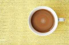 Uma chávena de café na vista superior Imagens de Stock