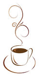Uma chávena de café para seu favorito Fotografia de Stock Royalty Free