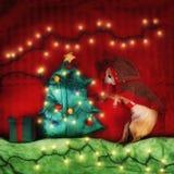 Uma chihuahua bonito no Natal fotos de stock royalty free
