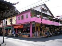 Uma cidade pequena dos pescadores na ilha de pangkor, Malásia Imagens de Stock