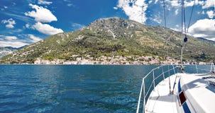 Uma cidade pequena em Montenegro - Perast Foto de Stock Royalty Free