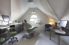 Uma cirurgia nova e limpa do dentista Imagem de Stock Royalty Free