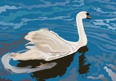 Uma cisne no lago ilustração stock