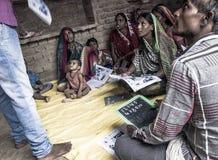Uma classe da instrução na Índia rural Foto de Stock