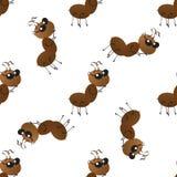 Uma col?nia de formigas de trabalho pequenas na maneira Teste padr?o sem emenda do papel de parede foto de stock