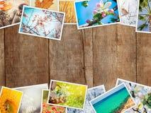 Uma colagem das fotografias é as estações Fotos de Stock Royalty Free