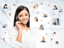 Uma colagem de executivos novos Fotografia de Stock