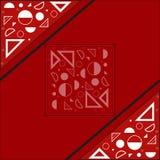 Uma colagem de formas geométricas Fotografia de Stock