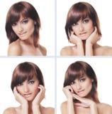 Uma colagem dos retratos de mulheres caucasianos despidas Fotografia de Stock