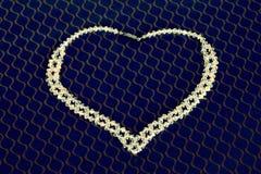 Uma colar de cristal fotografia de stock