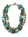 Uma colar do calaite, do topázio e da calcedônia foto de stock royalty free