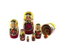 Uma coleção de bonecas do assentamento Imagens de Stock Royalty Free