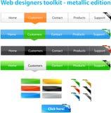 Uma coleção de gráficos do Web Imagens de Stock Royalty Free