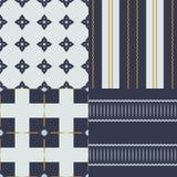 Uma coleção de 4 testes padrões sem emenda, feita em cores modernas Imagem de Stock