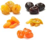 Uma coleção dos frutos secos Fotografia de Stock