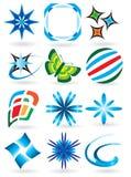 Uma coleção dos símbolos para o projeto Imagem de Stock