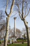 Uma coluna no parque fotografia de stock