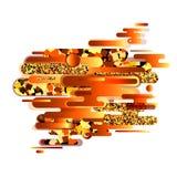 Uma combinação de formas arredondadas abstratas do ouro, do cobre, as cintilantes e as brilhantes Paleta de cores moderna e elega Imagens de Stock