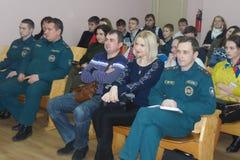 Uma competição entre a juventude teams o cérebro-anel na região de Gomel de Bielorrússia imagens de stock