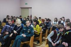 Uma competição entre a juventude teams o cérebro-anel na região de Gomel de Bielorrússia fotos de stock royalty free