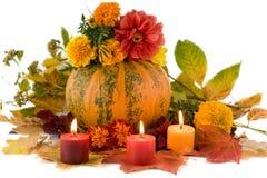 Uma composição do outono disparou sobre o branco Foto de Stock Royalty Free
