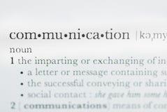 Uma comunicação Imagem de Stock Royalty Free