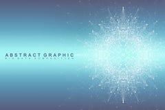 Uma comunicação abstrata gráfica do fundo Complexo grande dos dados Imagem de Stock