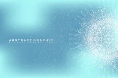 Uma comunicação abstrata gráfica do fundo Visualização grande dos dados Imagens de Stock