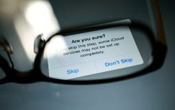 Uma comunicação ajustada da privacidade de dados de ICloud Imagens de Stock Royalty Free