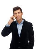 Uma comunicação com o sócio comercial foto de stock royalty free