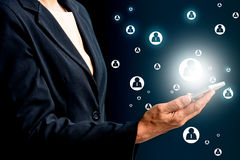 Uma comunicação com a rede do negócio Fotos de Stock