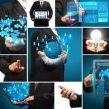 Uma comunicação criativa do conceito da ideia da tecnologia do negócio Foto de Stock