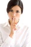 Uma comunicação da mulher Foto de Stock Royalty Free