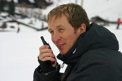 Uma comunicação da neve fotografia de stock royalty free