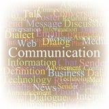 Uma comunicação da nuvem do Tag Fotografia de Stock Royalty Free