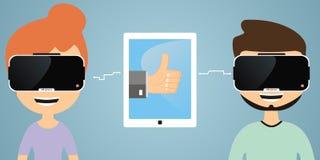 Uma comunicação da realidade virtual Fotos de Stock Royalty Free