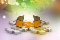Uma comunicação da rede e do Internet Foto de Stock Royalty Free