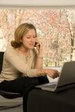 Uma comunicação de escritório Home Fotografia de Stock Royalty Free
