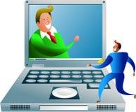 Uma comunicação do computador Imagens de Stock Royalty Free