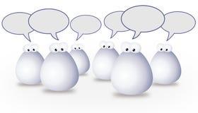 Uma comunicação do grupo Ilustração Stock