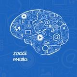 Uma comunicação do Internet ilustração stock