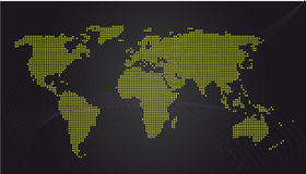 Uma comunicação do mapa de mundo Fotografia de Stock