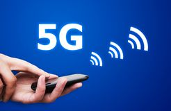 uma comunicação do padrão da rede 5G Imagem de Stock Royalty Free