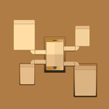 Uma comunicação do telefone Imagens de Stock Royalty Free