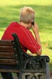 Uma comunicação do telefone móvel. Foto de Stock
