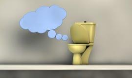 Uma comunicação do toalete Foto de Stock Royalty Free