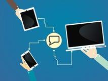 Uma comunicação dos dispositivos Tecnologia de comunicação Imagens de Stock Royalty Free