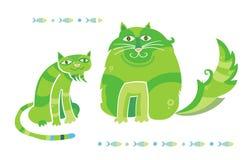 Uma comunicação dos gatos Foto de Stock