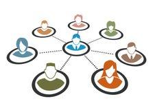 Uma comunicação dos povos Imagem de Stock Royalty Free